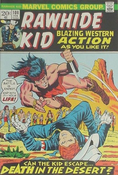 Cover for The Rawhide Kid (Marvel, 1960 series) #108