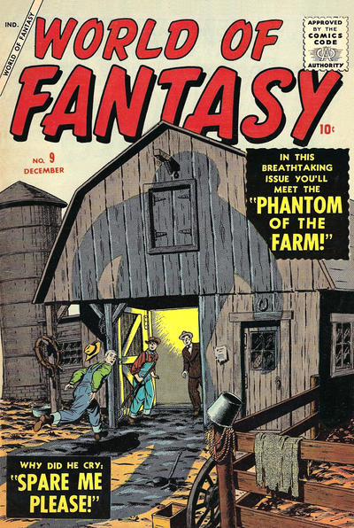 Cover for World of Fantasy (Marvel, 1956 series) #9