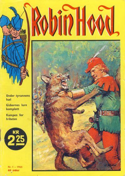 Cover for Robin Hood (Serieforlaget / Se-Bladene / Stabenfeldt, 1964 series) #1/1965
