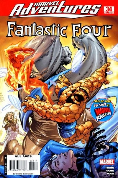 Cover for Marvel Adventures Fantastic Four (Marvel, 2005 series) #34