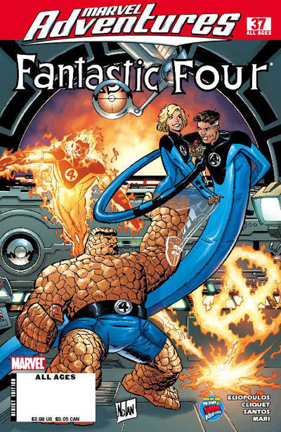 Cover for Marvel Adventures Fantastic Four (Marvel, 2005 series) #37
