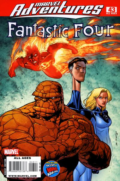 Cover for Marvel Adventures Fantastic Four (Marvel, 2005 series) #43
