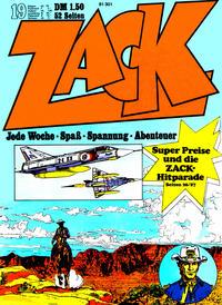 Cover Thumbnail for Zack (Koralle, 1972 series) #19/1972