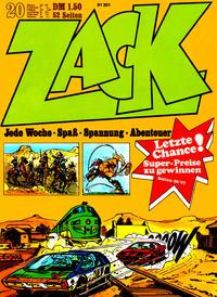 Cover Thumbnail for Zack (Koralle, 1972 series) #20/1972