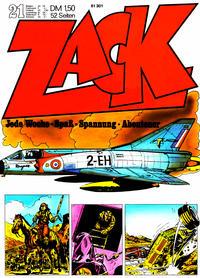 Cover for Zack (Koralle, 1972 series) #21/1972