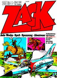 Cover Thumbnail for Zack (Koralle, 1972 series) #25/1972