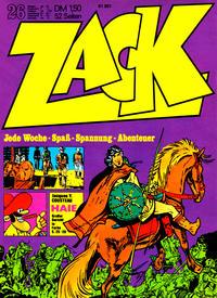 Cover Thumbnail for Zack (Koralle, 1972 series) #26/1972