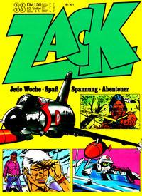 Cover Thumbnail for Zack (Koralle, 1972 series) #33/1972