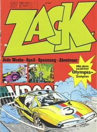 Cover Thumbnail for Zack (Koralle, 1972 series) #37/1972