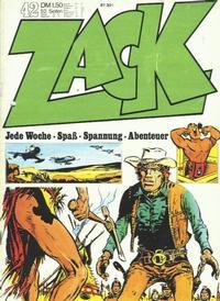 Cover Thumbnail for Zack (Koralle, 1972 series) #42/1972