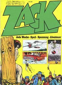 Cover Thumbnail for Zack (Koralle, 1972 series) #49/1972