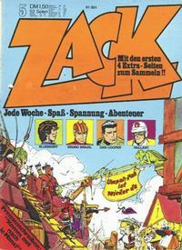 Cover Thumbnail for Zack (Koralle, 1972 series) #5/1973