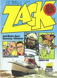 Cover Thumbnail for Zack (Koralle, 1972 series) #45/1973