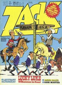 Cover Thumbnail for Zack (Koralle, 1972 series) #21/1974