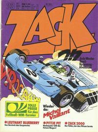 Cover Thumbnail for Zack (Koralle, 1972 series) #23/1974