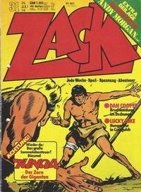 Cover Thumbnail for Zack (Koralle, 1972 series) #31/1974