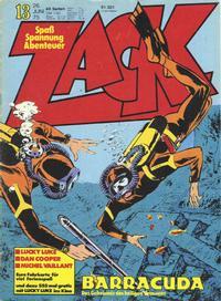 Cover Thumbnail for Zack (Koralle, 1972 series) #13/1975