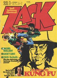 Cover Thumbnail for Zack (Koralle, 1972 series) #22/1975