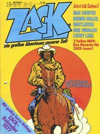 Cover for Zack (Koralle, 1972 series) #1/1977