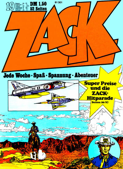 Cover for Zack (Koralle, 1972 series) #19/1972