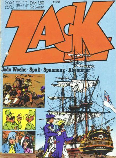 Cover for Zack (Koralle, 1972 series) #23/1972