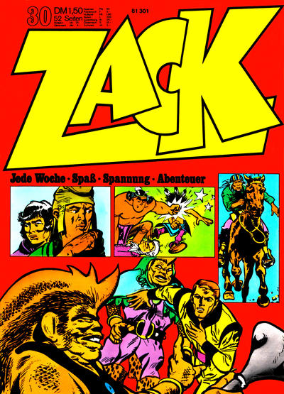Cover for Zack (Koralle, 1972 series) #30/1972