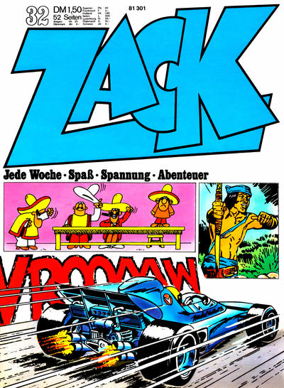 Cover for Zack (Koralle, 1972 series) #32/1972