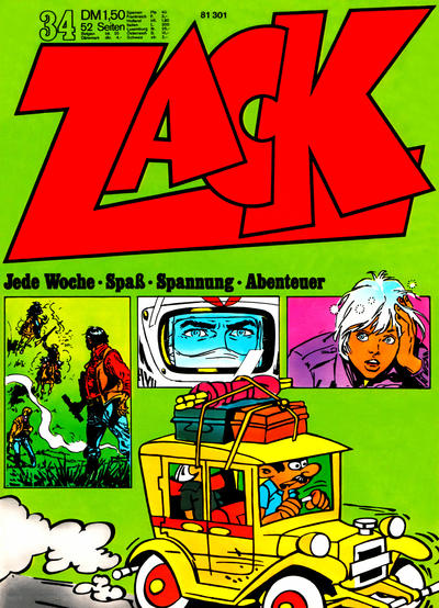 Cover for Zack (Koralle, 1972 series) #34/1972