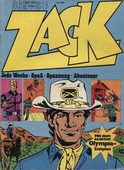 Cover for Zack (Koralle, 1972 series) #36/1972