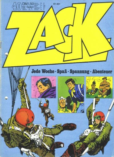 Cover for Zack (Koralle, 1972 series) #40/1972