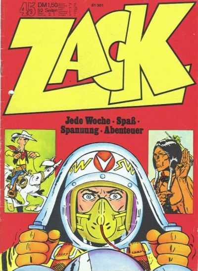 Cover for Zack (Koralle, 1972 series) #45/1972