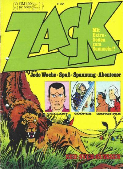 Cover for Zack (Koralle, 1972 series) #8/1973