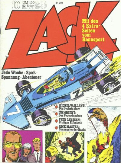 Cover for Zack (Koralle, 1972 series) #10/1973