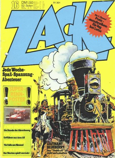 Cover for Zack (Koralle, 1972 series) #16/1973