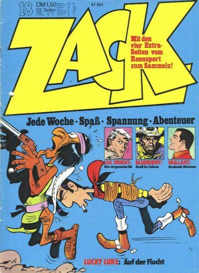 Cover for Zack (Koralle, 1972 series) #18/1973