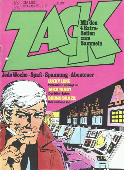 Cover for Zack (Koralle, 1972 series) #19/1973