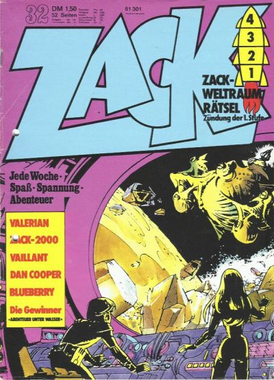 Cover for Zack (Koralle, 1972 series) #32/1973