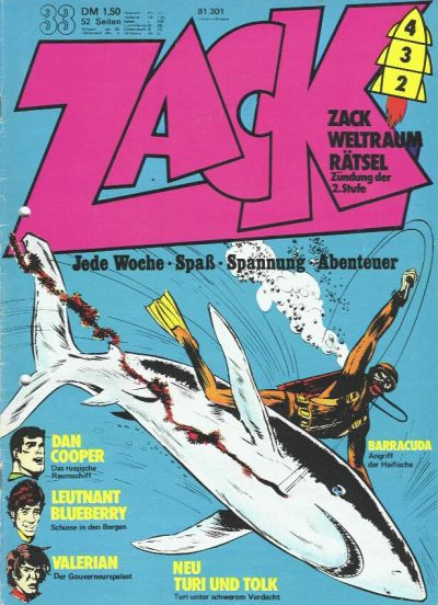 Cover for Zack (Koralle, 1972 series) #33/1973