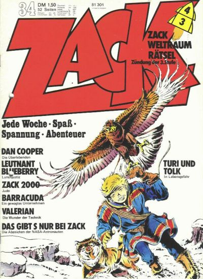 Cover for Zack (Koralle, 1972 series) #34/1973