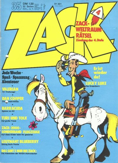 Cover for Zack (Koralle, 1972 series) #35/1973
