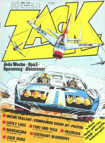 Cover for Zack (Koralle, 1972 series) #38/1973