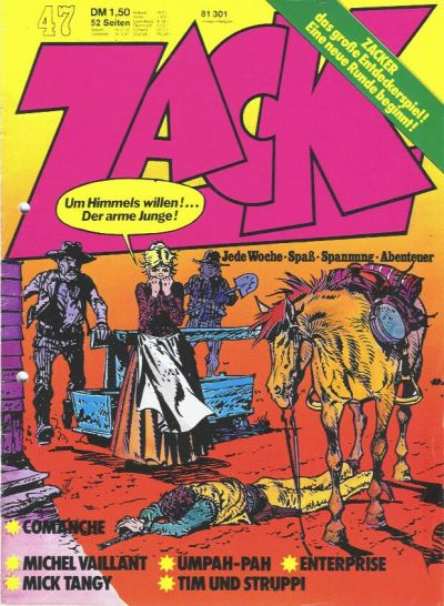 Cover for Zack (Koralle, 1972 series) #47/1973
