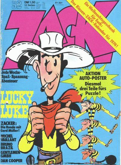 Cover for Zack (Koralle, 1972 series) #52/1973
