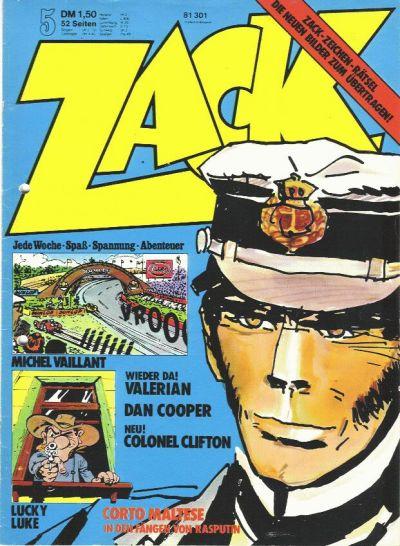 Cover for Zack (Koralle, 1972 series) #5/1974