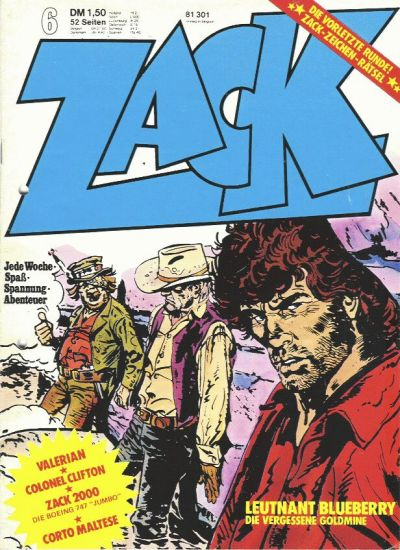 Cover for Zack (Koralle, 1972 series) #6/1974