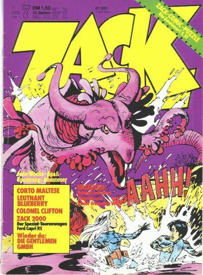 Cover for Zack (Koralle, 1972 series) #7/1974