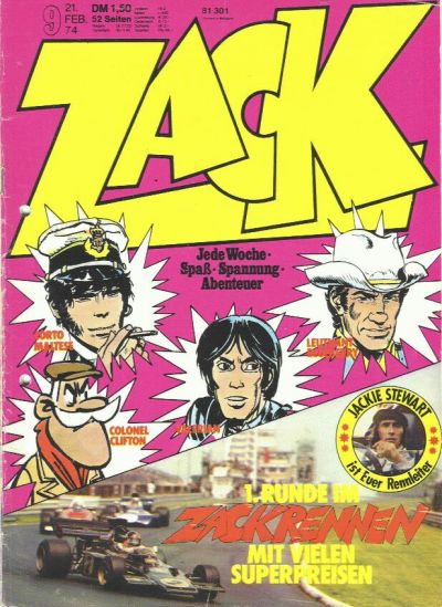 Cover for Zack (Koralle, 1972 series) #9/1974