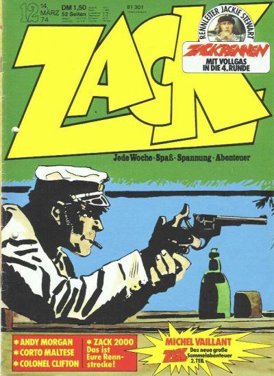 Cover for Zack (Koralle, 1972 series) #12/1974