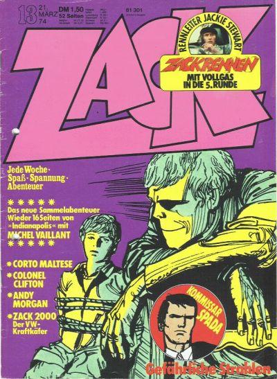 Cover for Zack (Koralle, 1972 series) #13/1974