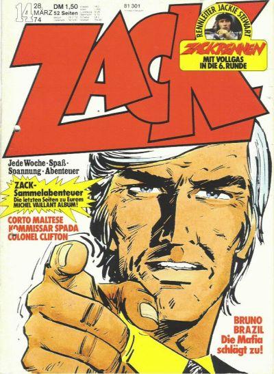 Cover for Zack (Koralle, 1972 series) #14/1974